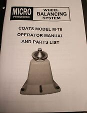 Coats M-76 Bubble Balancer Manual and Parts List