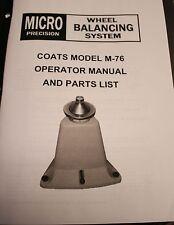 Coats M 76 Bubble Balancer Manual And Parts List