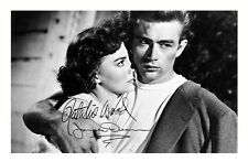 NATALIE WOOD & JAMES DEAN AUTOGRAPHED SIGNED A4 PP POSTER PHOTO
