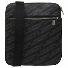 f7384cb38004 New Mens Emporio Armani Black Logo Print Pouch Polyurethane Cross Body Bag  Bags
