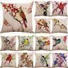 Bird Tree Cotton Linen Pillow Case Cushion Cover Waist Cover Home Decor