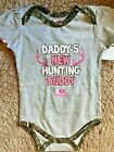 Mossy Oak Girls Shirt Camo DADDYS NEW HUNTING BUDDY Size 18 24 Months NEW