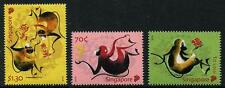 Year of the Monkey 2016 set of 3 mnh stamps Singapore #1762-4