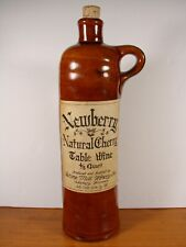 STONE MILL WINERY, NEWBERRY TABLE WINE UNUSUAL CLAY BOTTLE WITH FINE LABEL 70'S