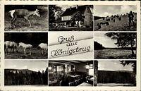 AK Gaststätte KÖNIGSKRUG Braunlage Oberharz Harz 50/60er Jahre Mehrbildkarte