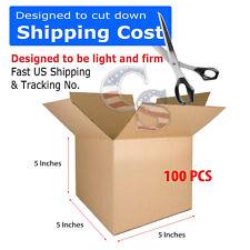 100 5x5x5 PACKING SHIPPING CORRUGATED CARTON BOXES