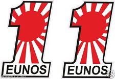 2x EUNOS mazda japanese flag decals sports car van bus truck Sticker Scooter dub