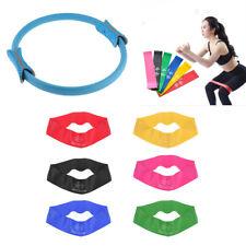 Blue Yoga EVA Ring 6 PCS Elastic Resistance Bands Non-slip Portable for Yoga