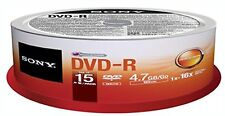 Sony 16x DVD-R Media 15PK DVD-R SPINDLE 4.7GB - 120mm Standard 15DMR47SP
