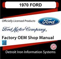 1970 Ford Torino Super Cobra Jet Mustang Mach Boss Shop Manuals & Parts Books CD