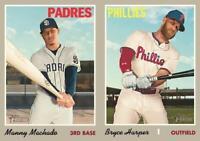 2019 Topps Heritage & High Number Baseball Cards Base Team Set U Pick