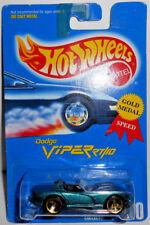 Hot Wheels Blue Card 1991 DODGE VIPER RT/10 (Green) w Gold/ 3-Spoke #210