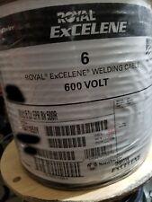 Southwire Royal Excelene #6 6awg Flexible Welding/Battery Cable 600V Black /50ft
