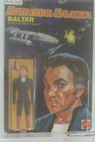 😍Battlestar Galactica AFA BALTAR 80+ 1978 Action Figure Mattel Card moc vintage