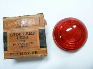 NORS 1941 PLYMOUTH RUBY GLASS LYNX EYE STOP LIGHT LENS, NIB T-368 (1)