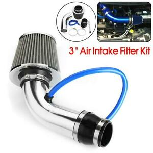 3'' Universal Car Cold Air Intake Filter Induction Kit Pipe Hose System Aluminum