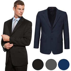 Men's Single Breasted 2 Button Suit Jacket Bamboo Blend Work Business Wedding