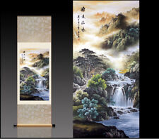 Chinese Silk Scroll Painting Landscape Painting Home Office Decoration(源远流长图)