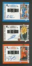 (3) 2019 CONTENDERS DRAFT BASKETBALL AUTOGRAPH COLLEGE TICKET CARD LOT