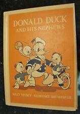 Walt Disney Story Book Donald Duck and His Nephews DC HEATH 1940 Very Near Mint