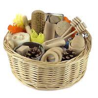 Sensory Treasure Basket - EYFS Educational Montessori Wooden Toy
