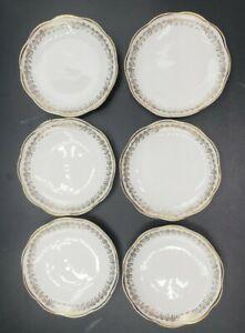 """6 Porcelain Butter Pat Plates 3 1/4"""" Diameter Vintage Decor"""