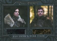 VHTF Game of Thrones Complete series Dual costume card DC1 Jon Snow & Robb Stark