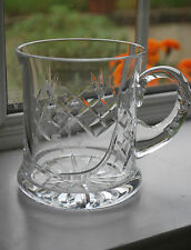 Crystal Tankard with Etched Bowling Figure - Good Quality - Ideal Gift  - #301