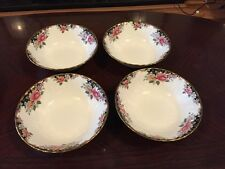 Four Stunning Royal Albert Concerto Cereal Bowls