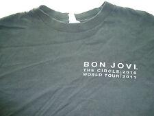 Men's Small Bon Jovi Circle World Tour 2010-2011 Wings Cross Heart Tee Shirt