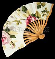 New Chinese Japanese Folding Hand Silk Danceing Wedding Bamboo Fan