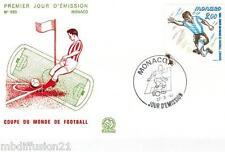 1982-ENVELOPPE ILLUSTRE**FDC 1°JOUR** FOOTBALL-MONACO**TIMBRE Y/T 1313