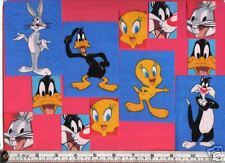 Looney Tunes Tweety Bugs Bunny Sylvester Daffy Duck Fabric Iron Ons