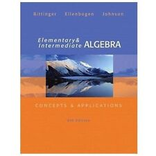 Elementary and Intermediate Algebra Concepts and Applications Bittinger 6th Ed