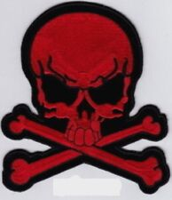 "Large Pirate Skull/X (R) Embroidered Patch 8.5""x7.5"""