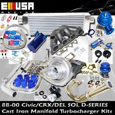 88-91 Honda CRX Complete Turbo Kit D Series Del Sol S 1.6L SOHC I-4 106HP D16Y7