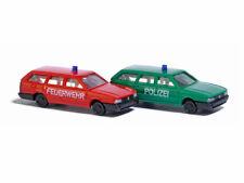 Busch 8344 Auto Set VW Passat Feuerwehr Polizei N 1:160 Neu
