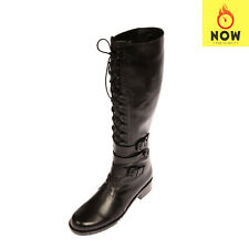 RRP €895 STUART WEITZMAN Leather Knee High Boots EU 41 UK 8 US 10 Lace Up