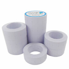 More details for price gun labels 10 rolls white 22 x 12mm fits motex 22x12 ct1
