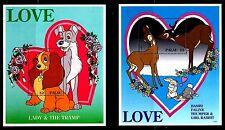 SELLOS TEMA DISNEY. PALAU 1996 2HB 37/38 LOVE DAMA Y VAGABUNDO/BAMBI