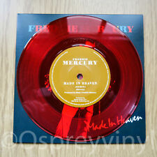 "Freddie Mercury Queen Made in Heaven Unplayed Red Coloured Vinyl 7"" single"