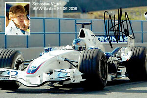 Original Autogramm Sebastian Vettel Formel 1 13x18