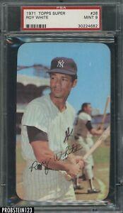 1971 Topps Super #26 Roy White New York Yankees PSA 9 MINT