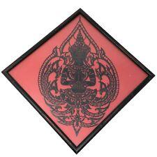 Vtg THAI SYMBOL OF BLESSINGS Framed Artwork