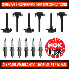6x NGK Iridium Spark Plugs & 6x Swan Ignition Coils for Jeep Cherokee KL