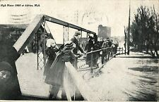 A View of the High Water At The Bridge, Flood at Adrian MI 1908