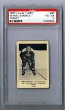 1952-53 Laval Dairy Hockey Card Shawinigan falls #90 Bernie Lemonde Graded PSA 4