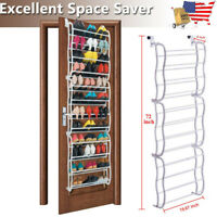 36 Pairs Over The Door Shoe Rack  Wall Hanging Closet Organizer Storage Stand