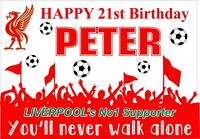 LIVERPOOL Birthday Poster Banner | Boy Girl | Personalised Name | TP197