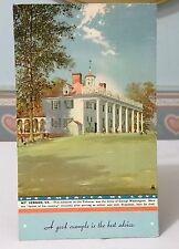 "VINTAGE INK BLOTTER -  MOUNT VERNON HOME GEORGE WASHINGTON 1940s 6-1/2 x 4"""